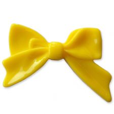 45mm YELLOW Bright Bowknot Flatback Bow Cabochon
